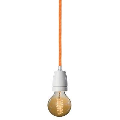 NUD Collection Pendelleuchte Classic Weiß Golden Poppy - Orange