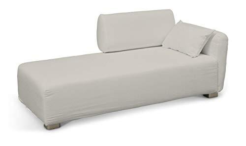 Dekoria Mysinge Recamiere Sofabezug Husse passend für IKEA Modell Mysinge hellgrau
