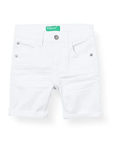 United Colors of Benetton (Z6ERJ) Bermuda 4KV959DW0 Pantalones Cortos, Bianco 701, 2 Años Bebé-Niños