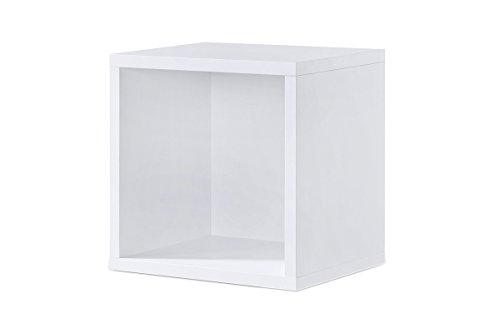 Regal weiß, Regalwürfel, Cube Weiss, Click System: Keine Schrauben und Dübel