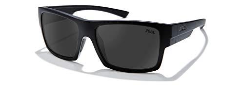 Zeal Optics Ridgway - Gafas de sol polarizadas para hombre y mujer, (Negro mate/lente gris oscuro polarizado.), Talla única