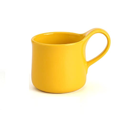 mglxzxxzc Taza De Porcelana De Color Rojo Amarillo Rosa Gris Azul Glaseado Taza De Café De Cerámica Decoración De La Mesa del Hogar Creativo-400Ml