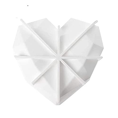 Trays Silikon-Kuchen-Brot-Frucht-Füllform Große runde Geleeform-Geburtstags-Party-Non-Stick-Bakeware-DIY (2 Stück) (Color : Heart2)