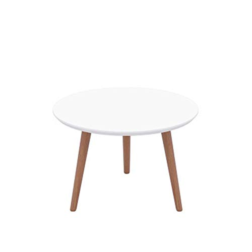 ChengBeautiful Coffee Table Small Table Paint Table Tatami Coffee Table Coffee Tea Sofa Side Table Family Living Room Home Decor Coffee Table (Color : Circular white, Size : M)