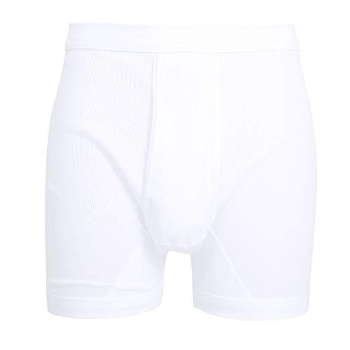 Ceceba Herren Pants, Unterhose - Baumwolle, Doppelripp, weiß, Uni, mit Bündchen, offener Eingriff 6