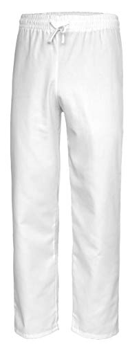 Best Uniform Pflegerhose Schwesternhose Medizin Klinikhose Berufshose Ärztehose Weiß (MED-S) (M)