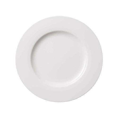 Villeroy & Boch Twist White Speiseteller, 27 cm, Premium Porzellan, Weiß
