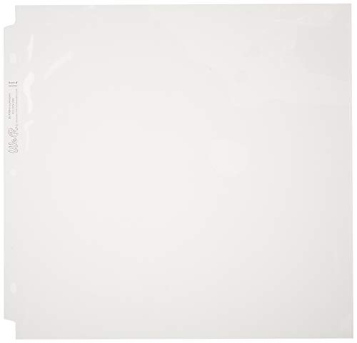American Crafts 660025 We R Memory Keepers Ring Page Protectors 12 x 12 Inch 100 Pack