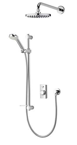 Aqualisa Visage dual outlet digital shower (concealed) with adjustable handset and fixed wall head - with integral pump for gravity fed systems