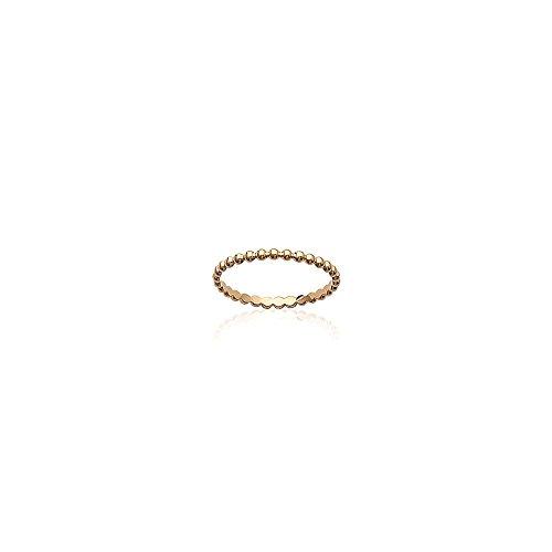 Line.bijoux ring, fijne bollen, trouwring, verguld 750/000, 10 jaar garantie, maat 50