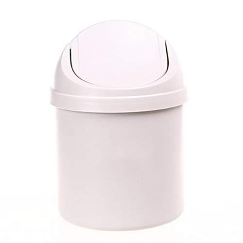 weichuang Desktop Mülleimer Haushalt Mini Kleiner Mülleimer Desktop Mülleimer Mülleimer für Tisch Home Office Mülleimer Reinigungswerkzeuge Mülleimer (Farbe: Weiß)