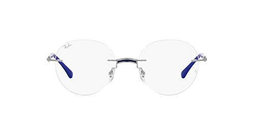 Ray-Ban 0RX8768 Gafas, BLUE ON SILVER, 48 Unisex Adulto