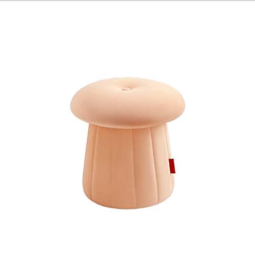 ZHONGTAI Otomano Sofá Sofá Sofá Taburete Terciopelo tapizado Ottoman Pouffe Pasado Sesión Simple Linda Sillón Suave Baja para Dormitorio Escabel (Color : Pink)