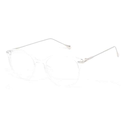 MU CHAOHAI Bril Groot frame wilde retro Bijziendheid Platte bril Literatuur Ultralicht Brilmontuur met Transparante lens voor Heren en Dames