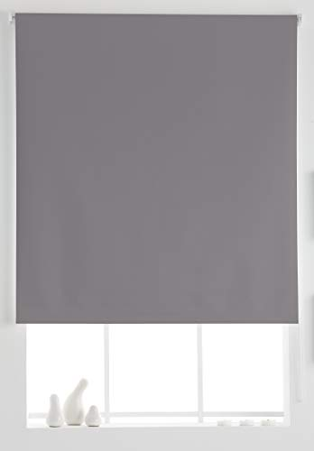 Estoralis Aral Estor Enrollable Liso, Gris, 130x175 cm