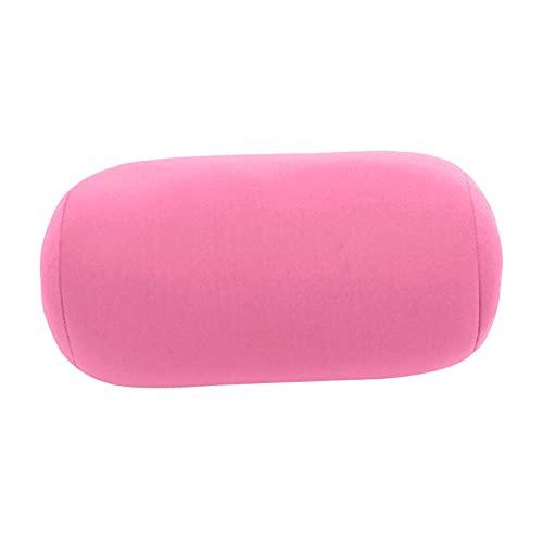 B Blesiya Almohada cervical suave de viaje con microperlas para niños, silla adulta, para dormir, divertida, color rosa