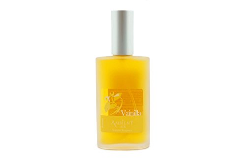 Ambientair Perfume de Hogar en Spray, Aroma Vainilla, 100 ml, Cristal, Amarillo, 5x3x12 cm
