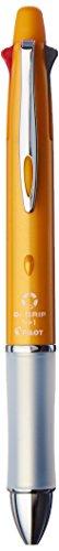 Pilot Mult Function Pen Dr. Grip 4+1, 0.7mm Acro Ink Ballpoint Pen, 0.5mm Mechanical Pencil, Orange (BKHDF1SF-O)