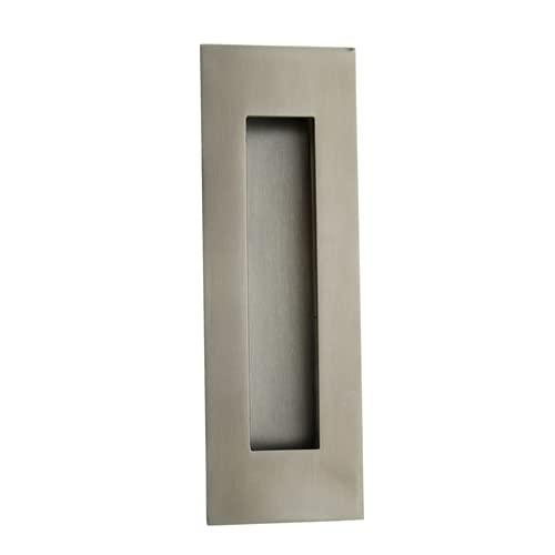 Nx Tirador cazoleta para Puerta de embutir 100x50mm INOX, 100x50