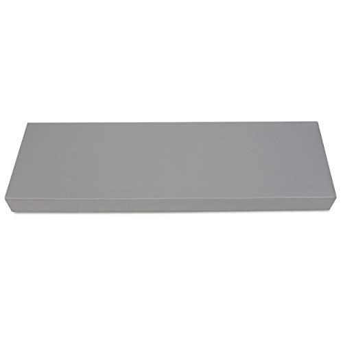 SuperKissen24 Palettenkissen Palettenauflagen Sitzkissen - 120x40 cm - Outdoor und Indoor - grau