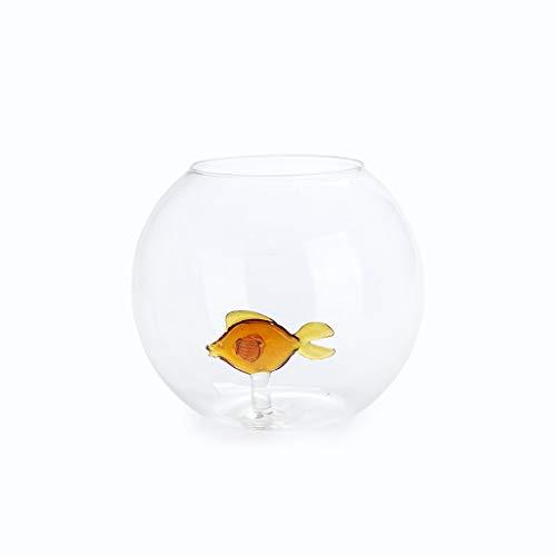 Balvi Vaas Vis Bloem vaas Met de figuur van een vis Glas Borosilicaat 13x15(dia) cm