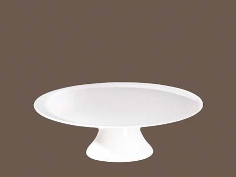 ASA Grande Platten Tortenplatte auf geschwungenem Fuß Durchmesser 29,5 cm, Höhe 9,3 cm - - - Keramik