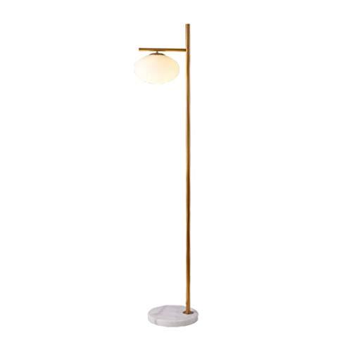 Lampe sur pied Estilo simple Europea de una sola cabeza Lámpara de pie moderna de vidrio LED verticales del arte de alta Polo lámpara de mesa de la sala de metal dormitorio lámpara de cabecera,Lampes