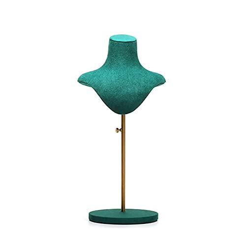 Soporte para Joyería Collar de terciopelo elegante de la joyería de la exhibición de la exhibición del busto de busto para el hogar (cómoda / estanterías) y joyería de la decoración de almacenamiento