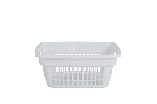 Rubbermaid Through-Handle Laundry Basket (FG287400WHT),White