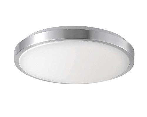 LED plafondlamp vloer plafondverlichting ronde vloerlamp aluminium glas (plafondlamp, keukenlamp, 35 cm, 6 x 1,9 Watt, warmwit)