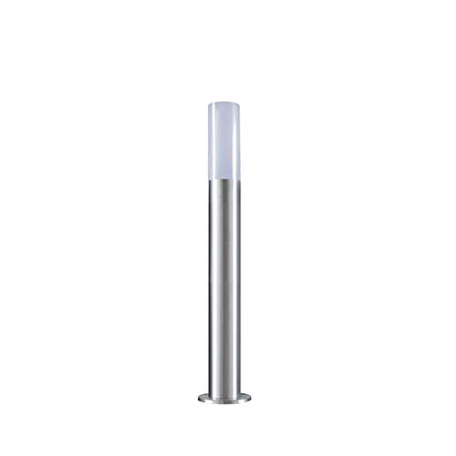 LineteckLED® E11.001.80 Lampione da Esterno in Acciaio Inox Spazzolato. Altezza 60cm. Portalampada Attacco E27