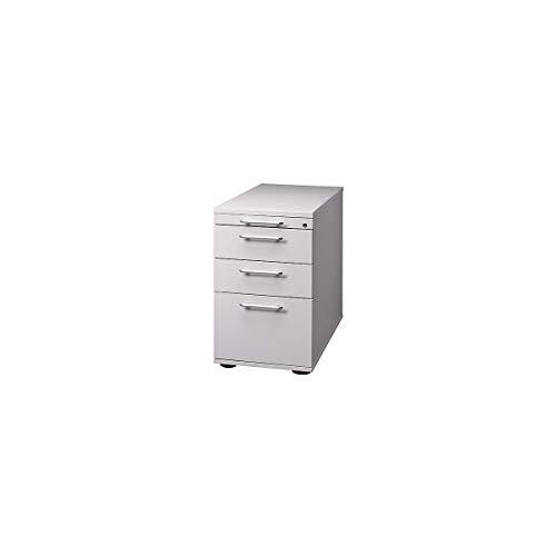 Hammerbacher Standcontainer, höhenverstellbar - 1 Utensilienschub, 2 Schubladen, 1 Hängeregistratur - lichtgrau | VSC40/5 - Beistellcontainer Beistellschrank Beistellschränke Bürocontainer Büromöbel Container FINO FINO Büromöbelprogramm