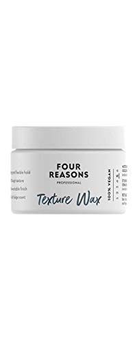 Four Reasons Texture Wax - 100% Vegan Strong Hold Styling Wax With Long-Lasting Flexible & Elastic Hold - Professional Reworkable Hair Wax For Men & Women - Cruelty Free & Vegan - 3.38 fl. oz.