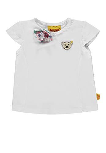Steiff Steiff Mädchen Flügelarm T-Shirt, Weiß (Bright White 1000), 98
