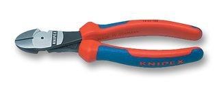 KNIPEX 74 02 180 Kraft-Seitenschneider schwarz atramentiert mit Mehrkomponenten-Hüllen 180 mm