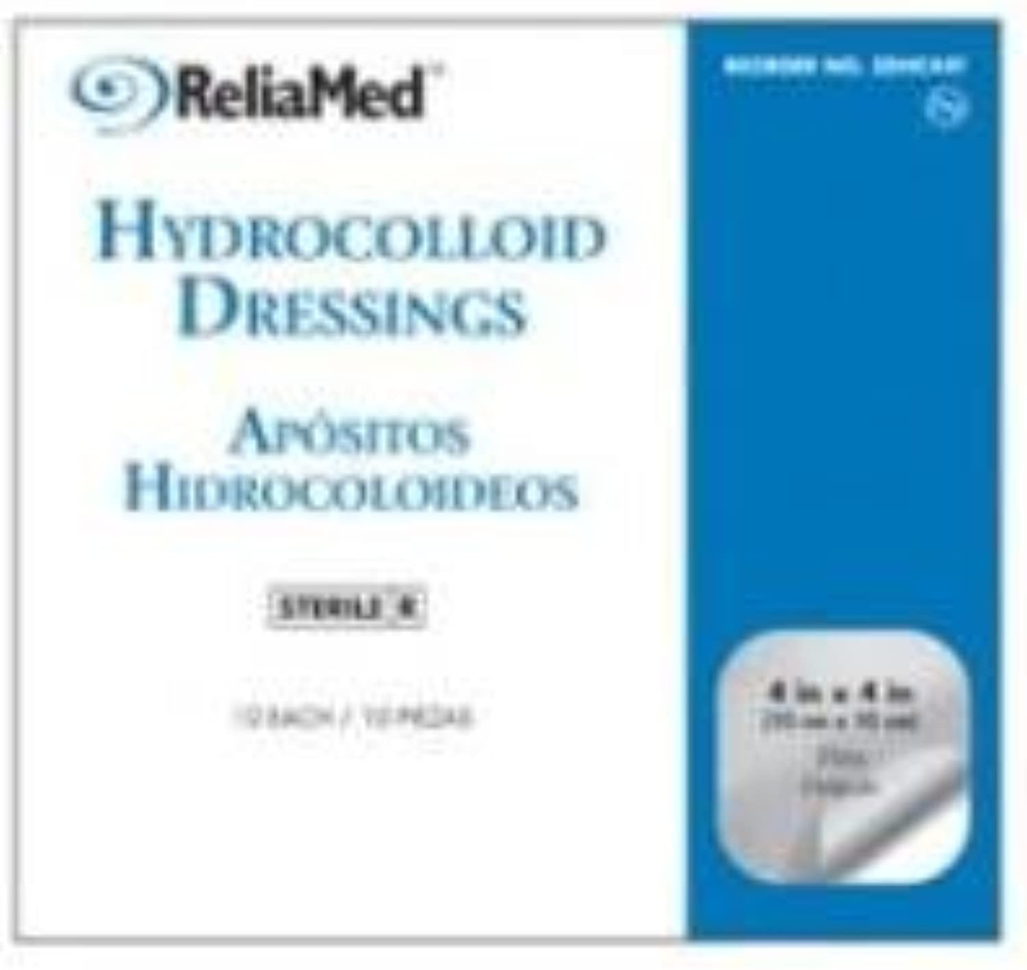 ReliaMed Beveled Edge Hydrocolloid Wound Dressing, 6  X 6 , Box of 5