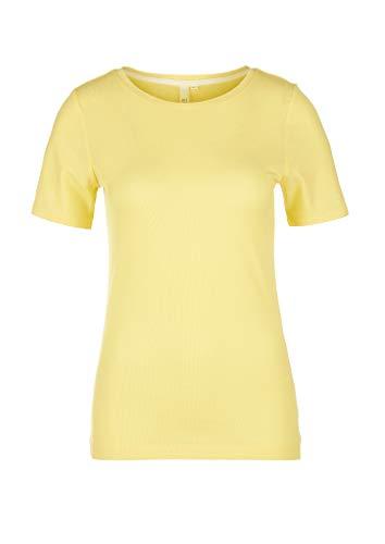 Q/S designed by T-Shirt Kurzarm, Giallo (1195 Sorbetto al Limone), XS Donna