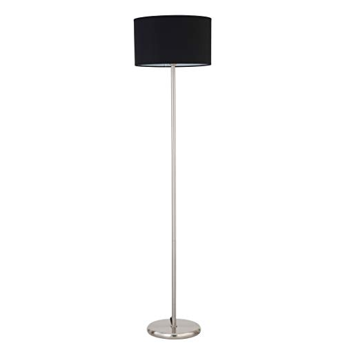 Globe Electric 67065 Barden Floor Lamp With Shade Matte Black With White