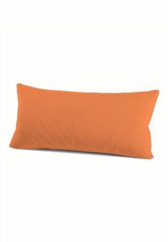 schlafgut 035-301 Mako Jersey Kissenbezug / 40 x 80 cm, orange