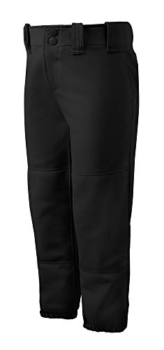 Mizuno Adult Women's Belted Low Rise Fastpitch Softball Pant, Black, Small