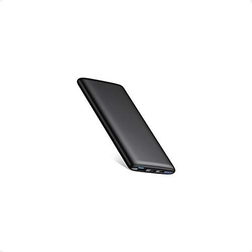 BABAKA Power Bank 10000mAh Bateria Externa PD18W & QC3.0 para Móvil Carga Rápida Ultra-Thin Cargador Portátil Ligero con 2 Salidas 2 Entradas para Xiaomi Samsung Huawei iPad Tablets y más Smartphone