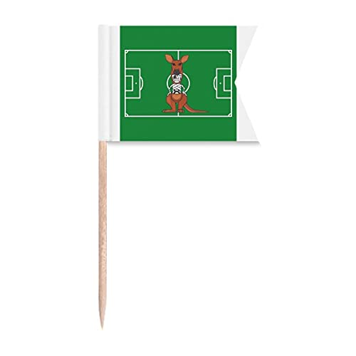 Beauty Gift Australien Mumie Känguru Football Sports Markierung für die Kennzeichnung von Zahnstocher-Flaggen