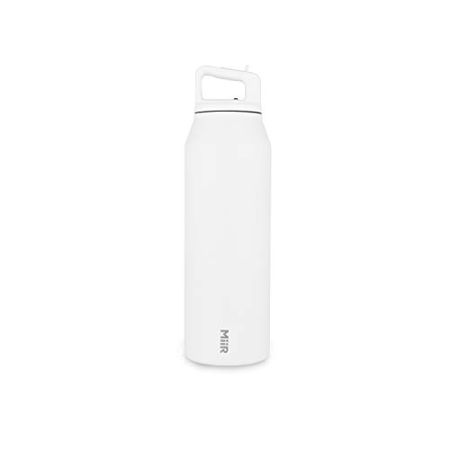 MiiR Insulated Wide Mouth Bottle with Leak-Proof Screw Top Lid - 42oz - White