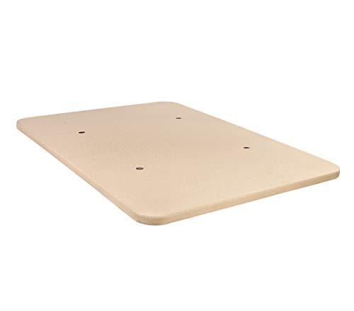 DHOME Base Tapizada 3D Reforzada Acero Sin Patas Bases tapizadas (105x190, Crema)