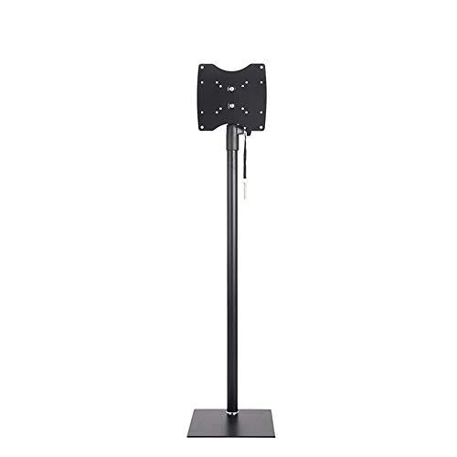 LGGDSZJ Porta TV da Terra - con Supporto per Staffa per TV LCD A Schermo Piatto al Plasma QLED da 15-32 Pollici A LED con Girevole Regolabile in Altezza, Nero