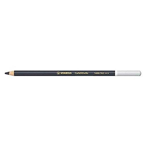 STABILO Lot de 3 Crayons de couleur Fusain Pastel CarbOthello Noir d'ivoire