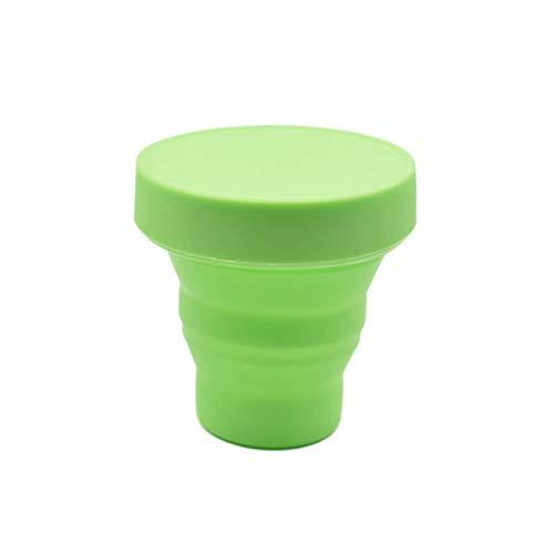 Rantoloys Copa menstrual Período Portavasos Copas suaves de silicona reutilizables para mujer Copa multifuncional con tapa Color aleatorio Cuidado femenino