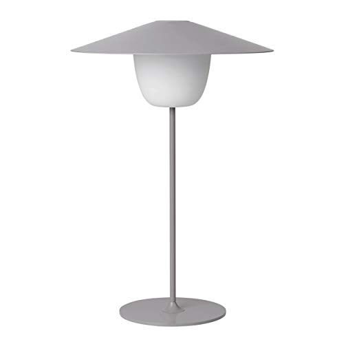 Blomus Mobile LED-Leuchte ANI LAMP LARGE, Lampe, Aluminium matt pulverbeschichtet, Satellite, 66069
