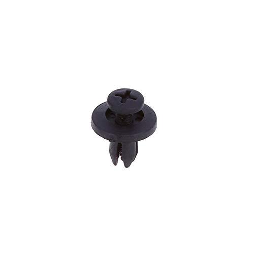 100 Piezas de Clips de Coches Remaches Sujetador 6 mm pl/ástico Negro Leaftree