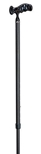 Gehstock aus Carbon Comfort Grip Höhenverstellbar Gehhilfe Spazierstock